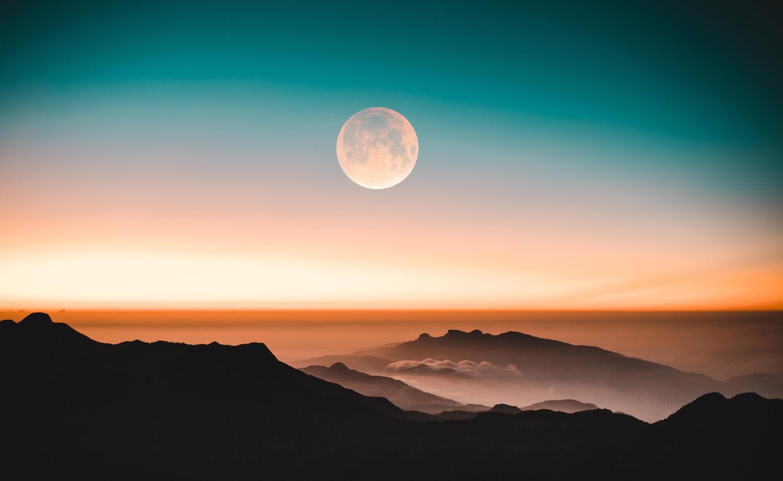 De maan en al haar schoonheid